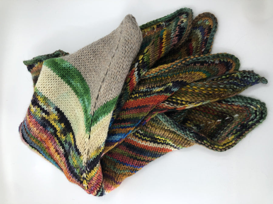 Scrappy Yarn Shawl