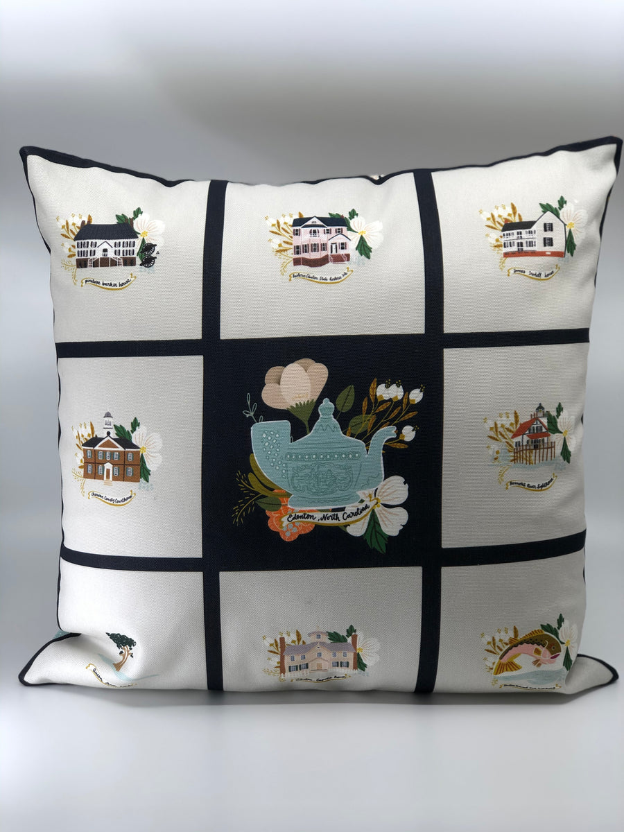 Edenton inspired pillow case