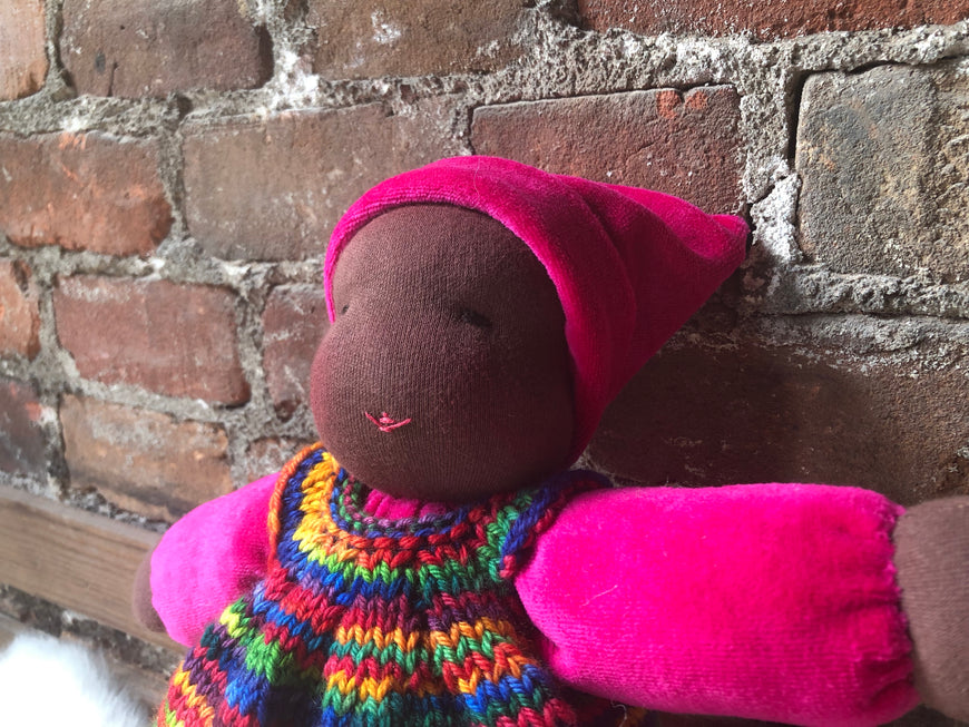 wool, Waldorf inspired doll, Waldorf inspired, Waldorf doll, Steiner doll, natural materials, fiber art doll, doll, cotton, Cloth doll, art doll, boy, girl, toy, play, role play, first baby doll, cuddle doll, cotton velour doll, waldorf doll, snuggle doll, toddler doll, nursery gift, baby shower gift