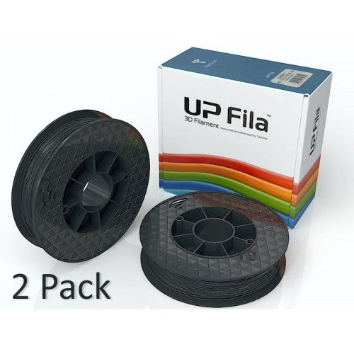 Genuine ABS UP+ Premium Filament 2x500g rolls - Black gloss