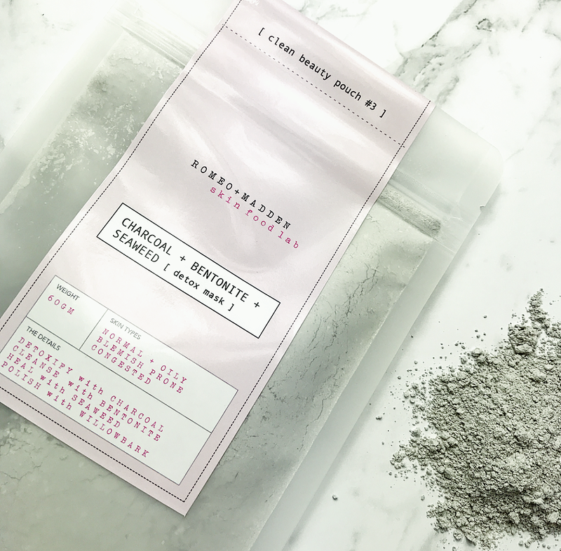 Charcoal + Seaweed + Bentonite Detox Mask