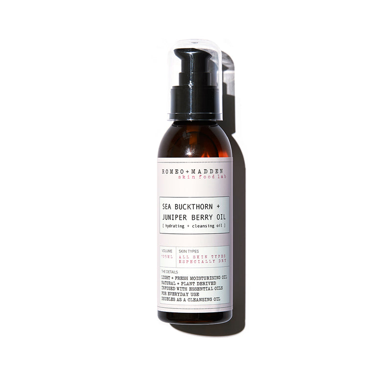 Sea Buckthorn + Juniper Berry [ hydrating + cleansing oil ]