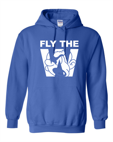 FLY THE W - HOODED SWEATSHIRT - ROYAL