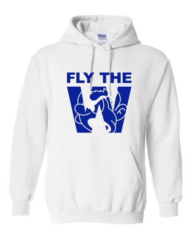 FLY THE W - HOODED SWEATSHIRT - WHITE