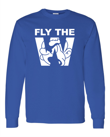 FLY THE W - LONG SLEEVE SHIRT - ROYAL