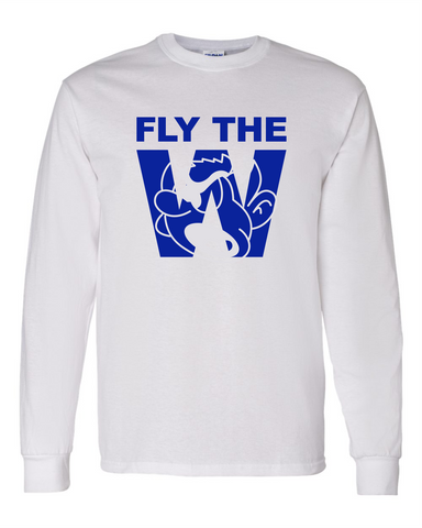 FLY THE W - LONG SLEEVE SHIRT - WHITE