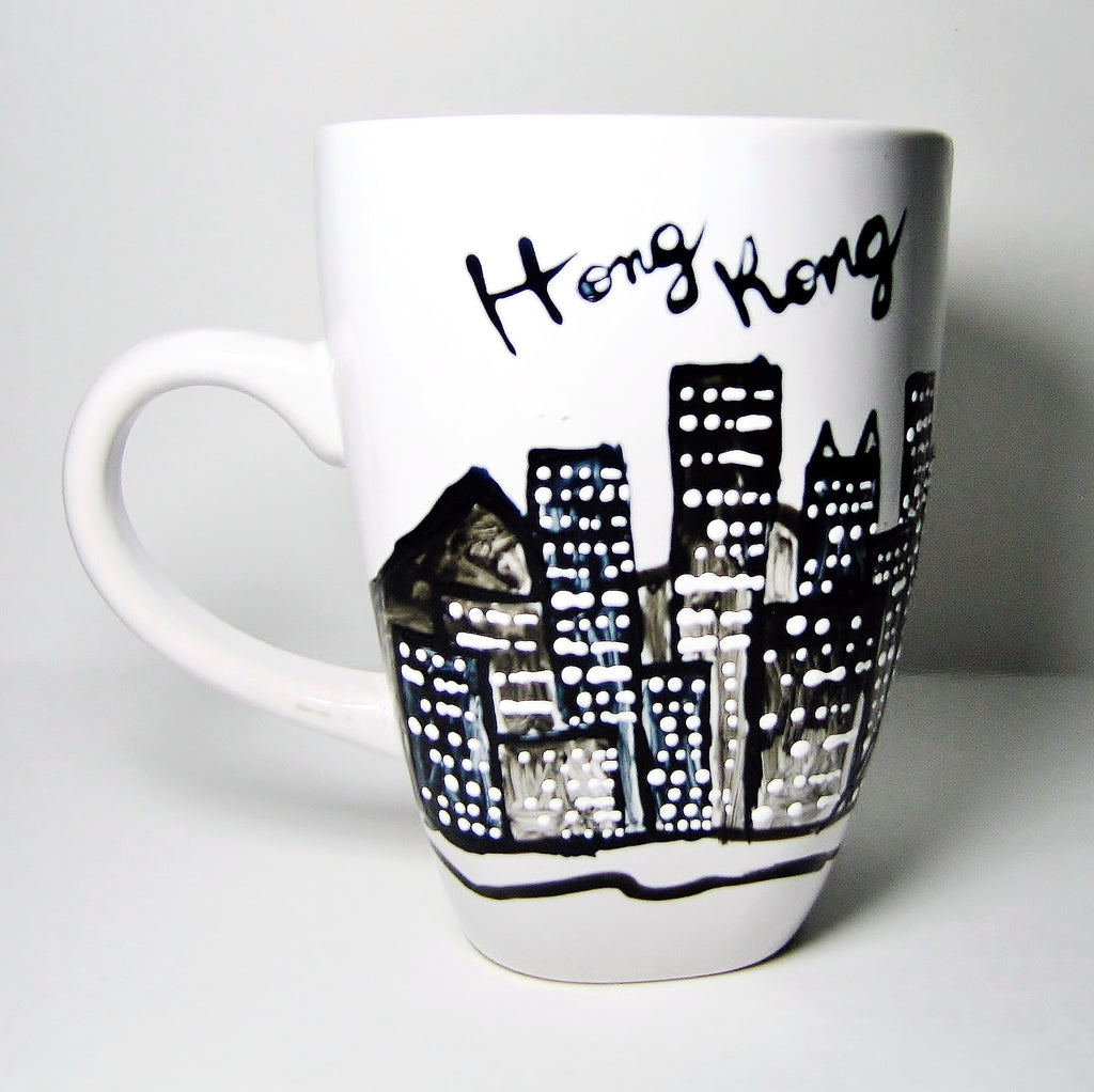 Personalized coffee mugs raleigh nc - Hong Kong Coffee Mug Unique Anniversary Gift