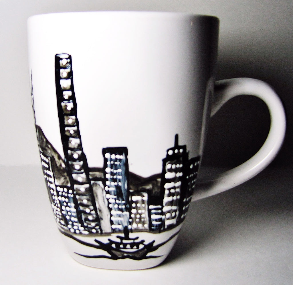 Personalized coffee mugs raleigh nc -  Hong Kong China Landscape Coffee Mug Gift For Friend