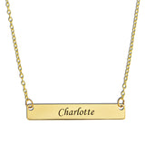 HORIZONTAL NAME BAR NECKLACE - GOLD