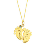 Baby Feet Personalized Pendent for Boys in 10k Gold