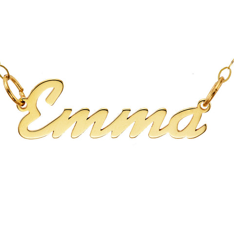 NAME NECKLACE SCRIPT - SOLID GOLD
