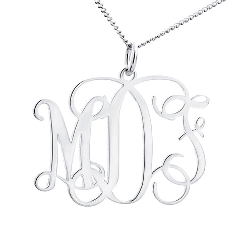 MONOGRAM PENDENT - STERLING SILVER