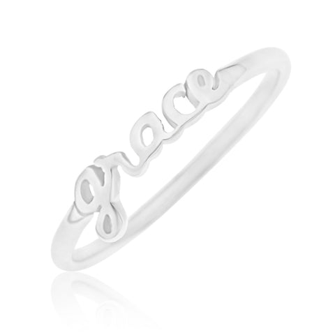 NAME RING - STERLING SILVER