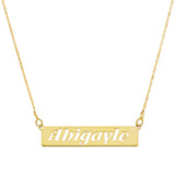 HORIZONTAL BAR CUT OUT NAME NECKLACE - GOLD