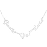 NAME NECKLACE WITH THREE NAMES - STERLING SILVER