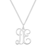 MONOGRAM 2 LETTER NECKLACE - STERLING SILVER