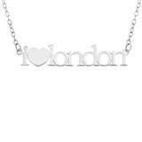 I HEART NECKLACE PERSONALIZED - STERLING SILVER