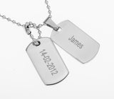 DOG TAGS - STAINLESS STEEL
