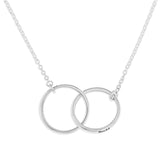 DOUBLE INTERLOCKING RINGS PENDENT & PERSONALIZED - STERLING SILVER