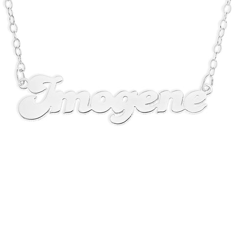 NAME NECKLACE FANCY FONT - STERLING SILVER