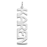 VERTICAL NAME PENDENT 'ADD ON' - STERLING SILVER