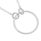 CIRCLE PENDENT WITH SCRIPT NAME ON CHAIN - STERLING SILVER