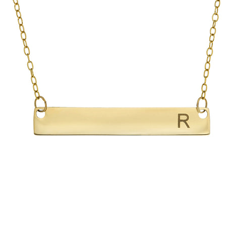 HORIZONTAL BAR NECKLACE - GOLD