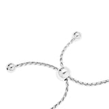 NAME BAR ON ADJUSTABLE SLIDER BRACELET - STERLING SILVER