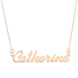 NAME NECKLACE ROSE GOLD - Simple Script Font