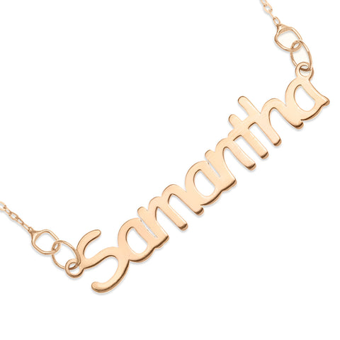 NAME NECKLACE ROSE GOLD - Block Font