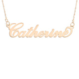 NAME NECKLACE ROSE GOLD - Carrie Font