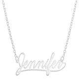 NAME NECKLACE LEARNING CURVE FONT - STERLING SILVER