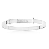 Baby's Bangles Personalized and Expandable With Message - STERLING SILVER