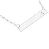 HORIZONTAL BAR NAME NECKLACE ENGRAVED - STERLING SILVER