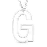 WIRE SINGLE INITIAL PENDENT - STERLING SILVER