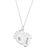 Baby Feet Personalized Pendent for Girls - STERLING SILVER
