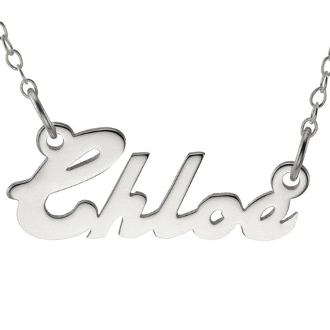 NAME NECKLACE BOLD SCRIPT - STERLING SILVER