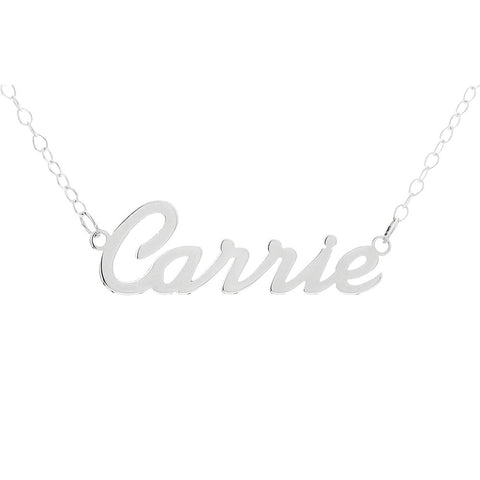 Name Necklace personalized in script font - STERLING SILVER