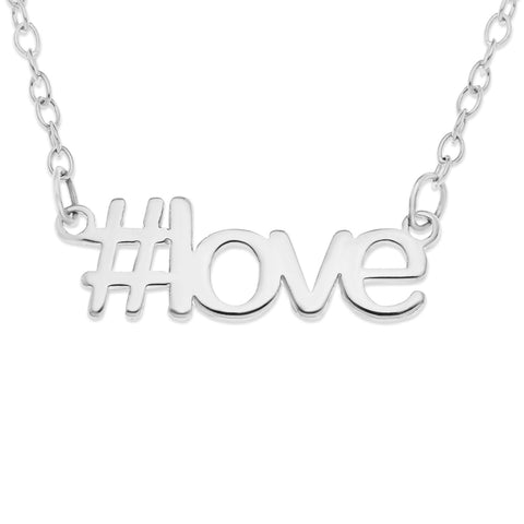 HASHTAG NAME OR WORD NECKLACE - STERLING SILVER