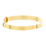 Baby's Bangles 'Baby's first Diamond' PERSONALIZED, adjustable - 10k GOLD