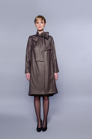 Paris Coat - brown lurex