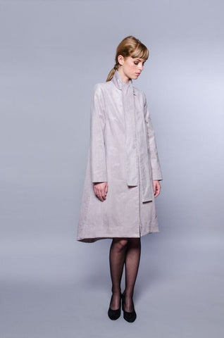 Paris Coat - silver corduroy