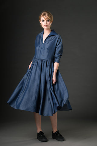 Antonia Dress - chambray denim