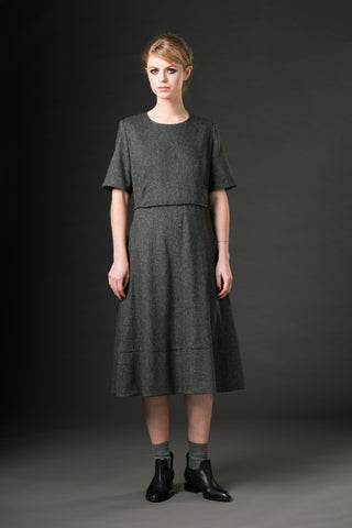 Charlotte Dress - grey speckle
