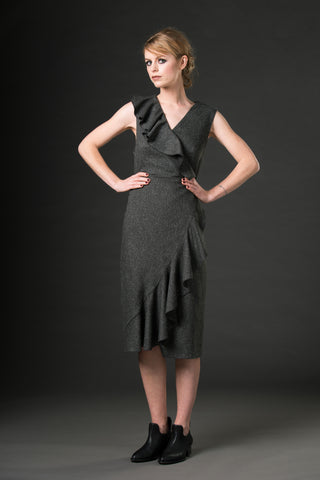 Sofia Dress - speckled grey