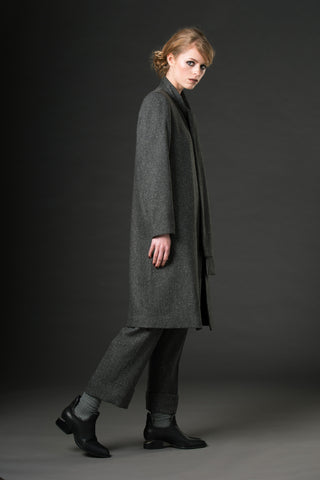 Madison Coat - Grey speckle