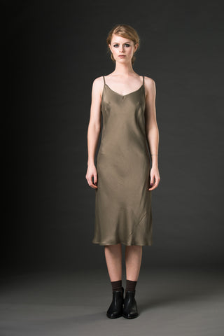 Mia Slip Dress - olive