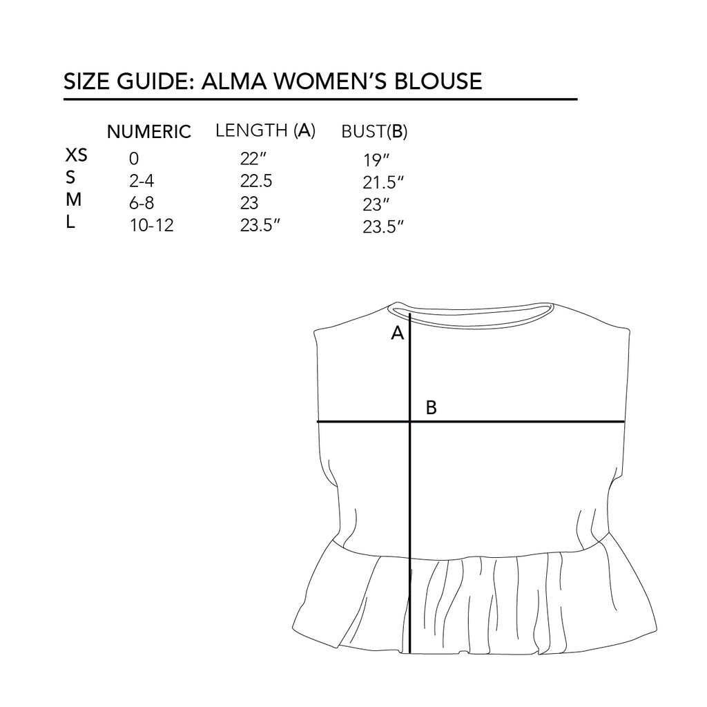 Alma Women Blouse in Flores de Otoño