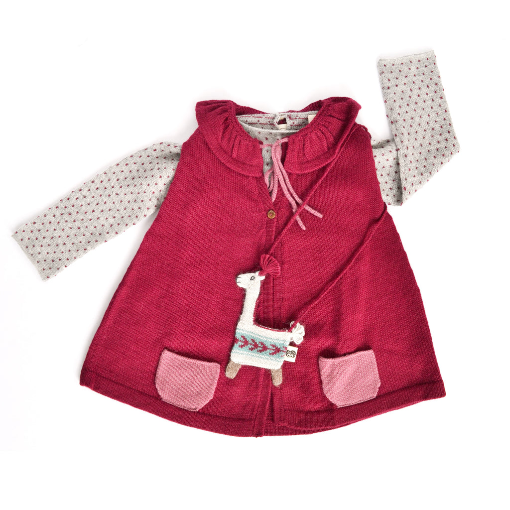Mila Cape in Cherry