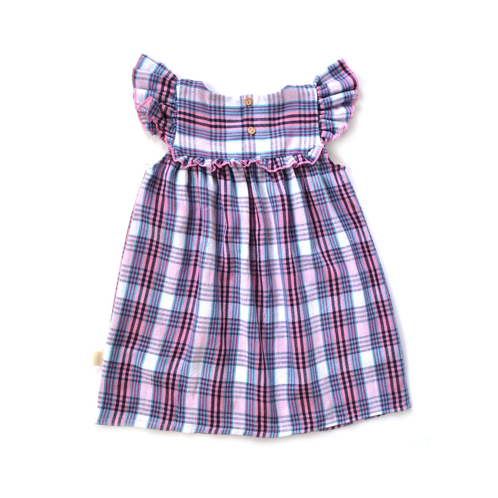 Brisa Dress in Marina Plaid
